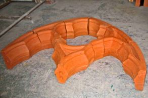 Special clay brick for heritage tracery rose window