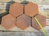 floor hexagonal plate handmade
